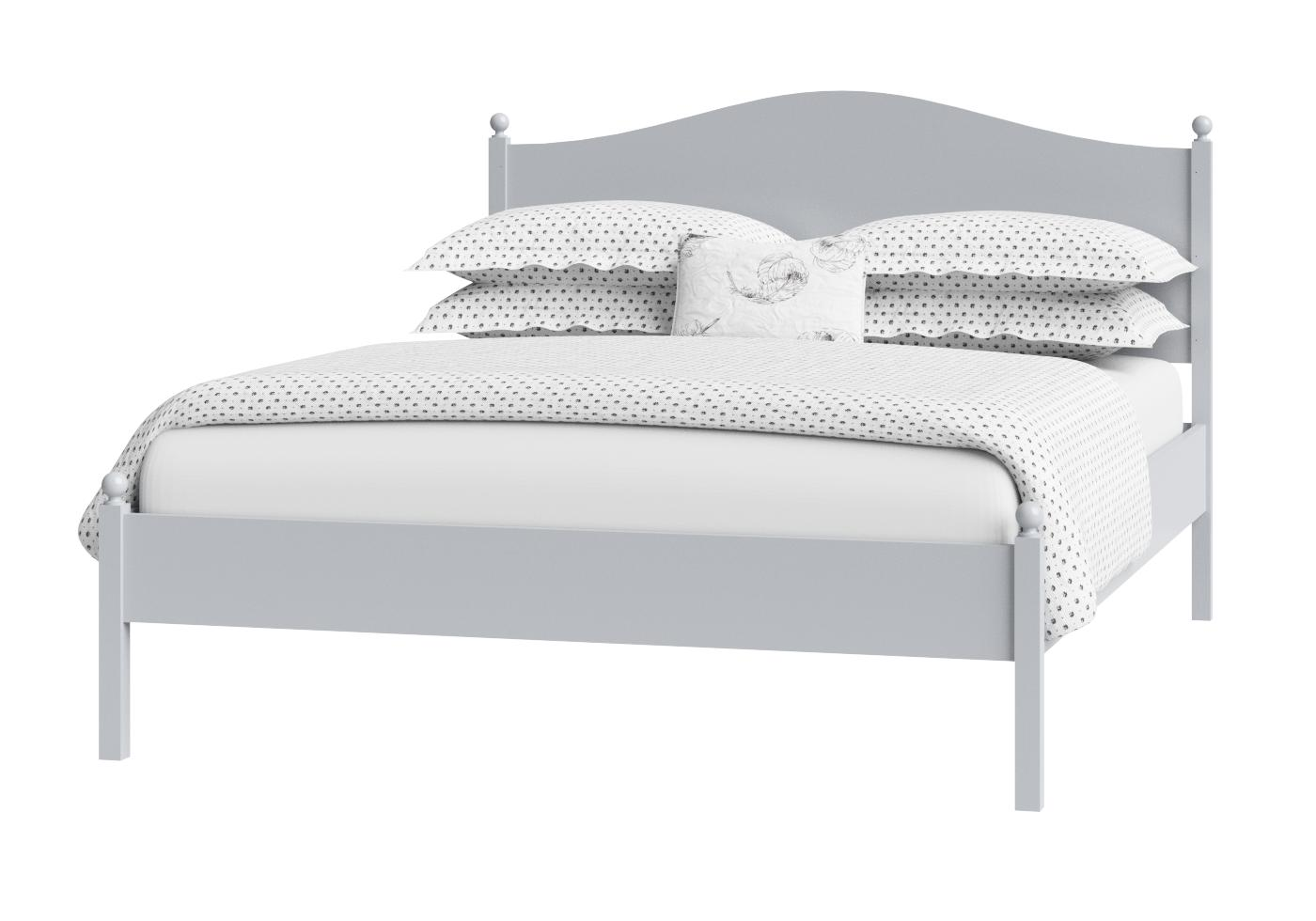 Cutout of Brady low footend painted wood bed in grey