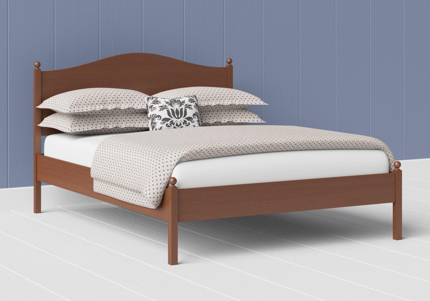 Brady low footend wood bed in a dark cherry finish