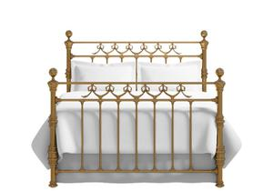 Braemore bed in a brass finish