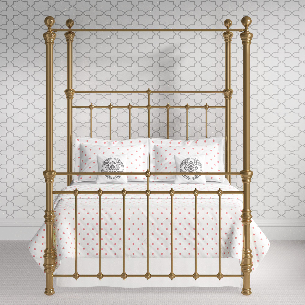 Brass four poster beds the original bedstead company for Small four poster bed
