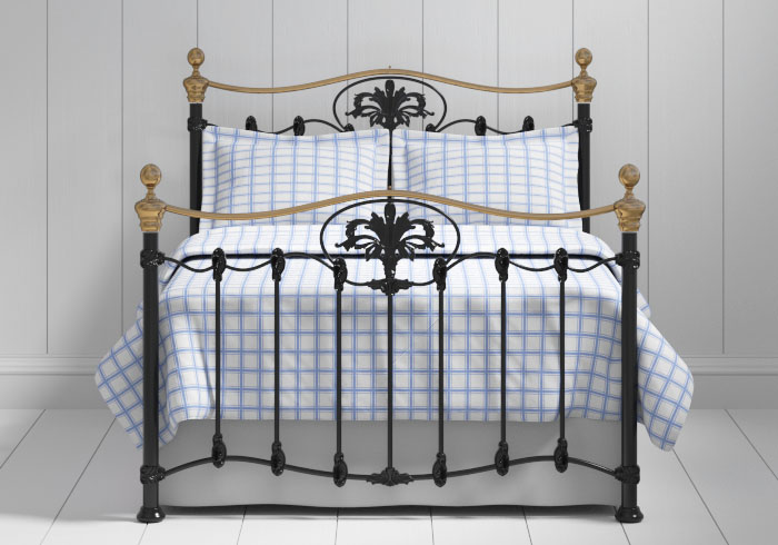 Camolin iron bed in black