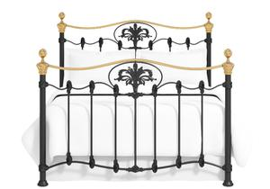 Camolin iron bed in satin black