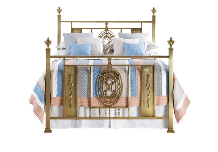 Campbelton bed in a antique brass finish