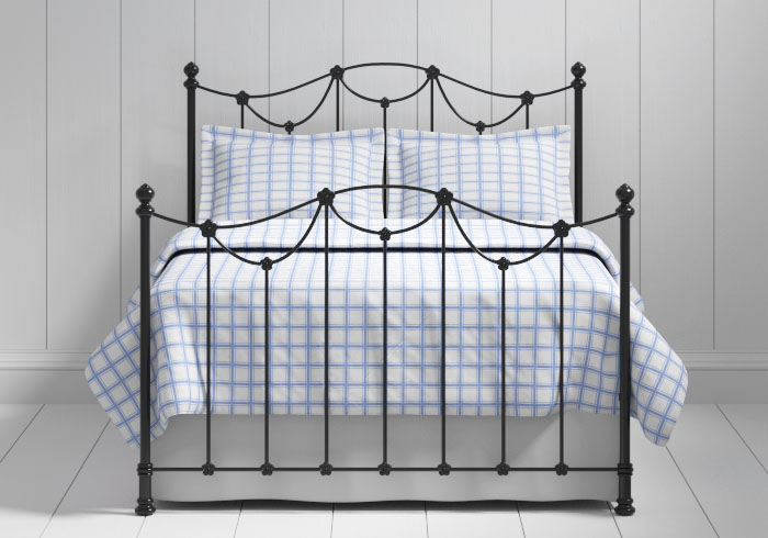 Carie iron bed in black