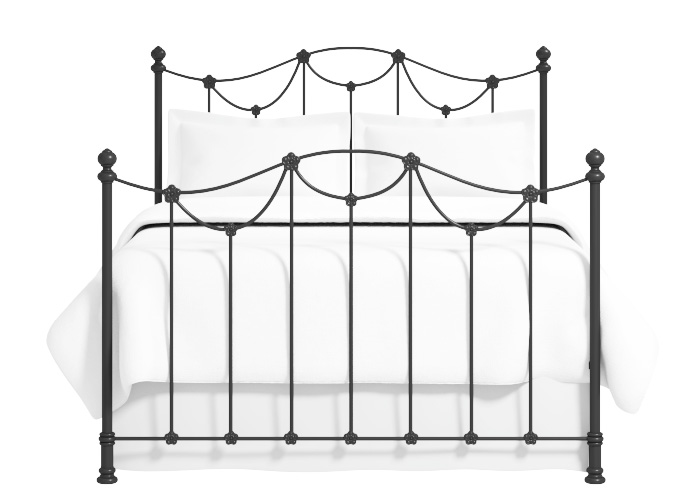 Cutout of the Carie iron bed