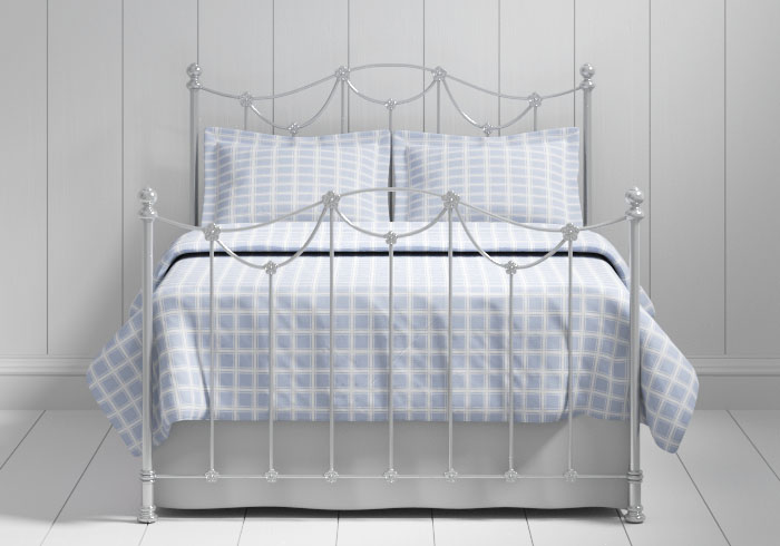 Carie iron bed in silver