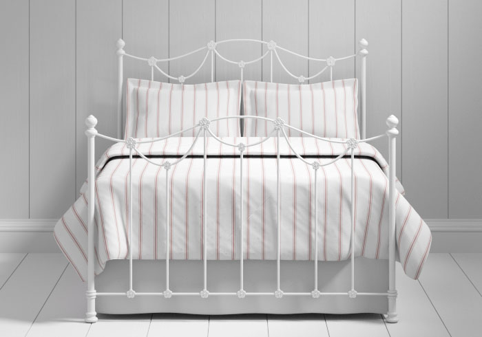 Carie iron bed in white