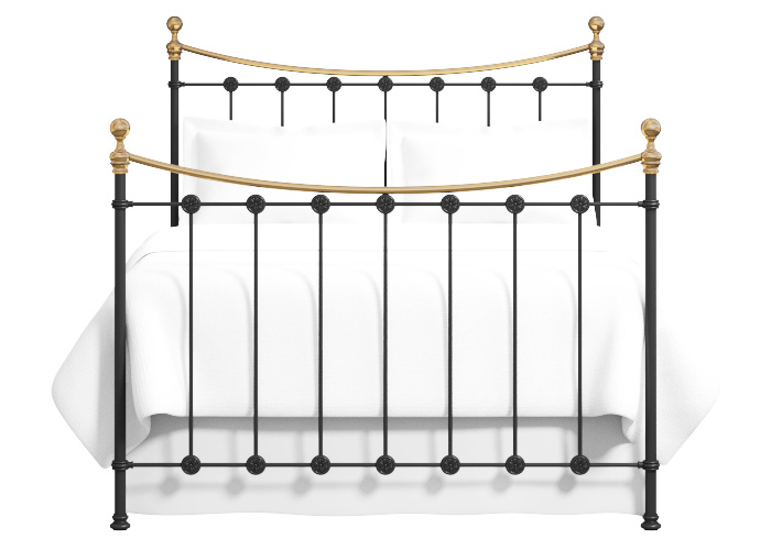 Cutout of the Carrick iron bed
