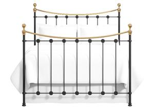 Carrick iron bed in satin black