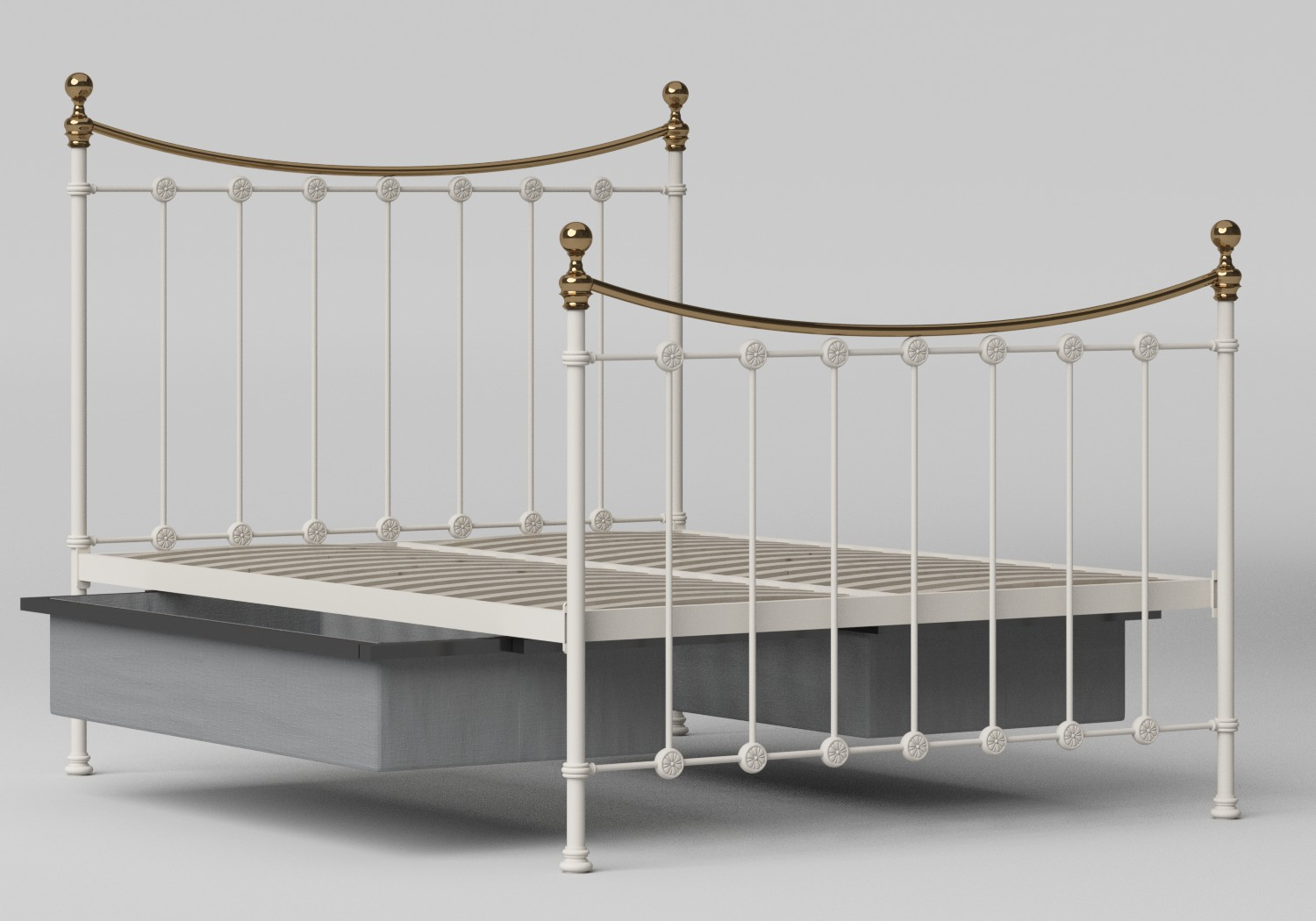 Carrick Iron/Metal Bed in Glossy Ivory