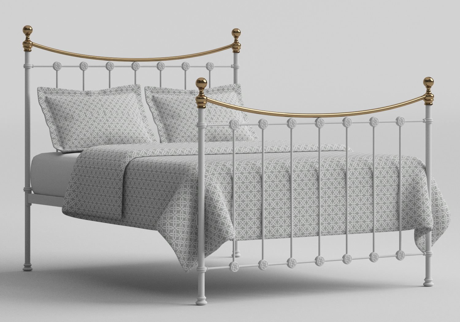 Carrick Iron/Metal Bed in Satin White