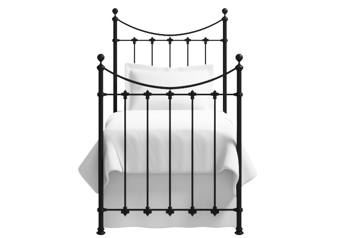 Chatsworth single iron bed in satin black
