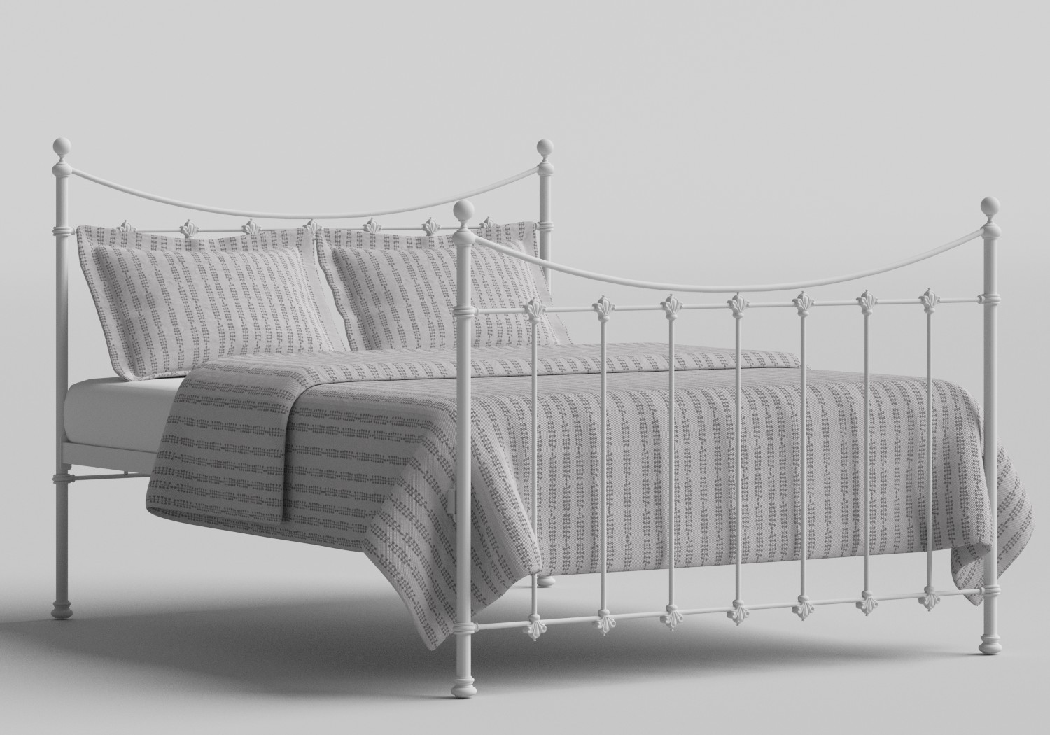 Chatsworth Iron/Metal Bed in Satin White