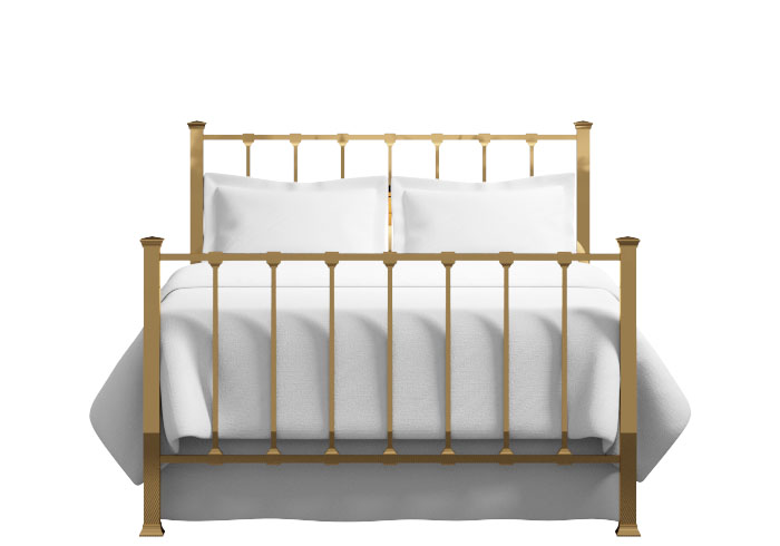 Chilton bed in a brass finish