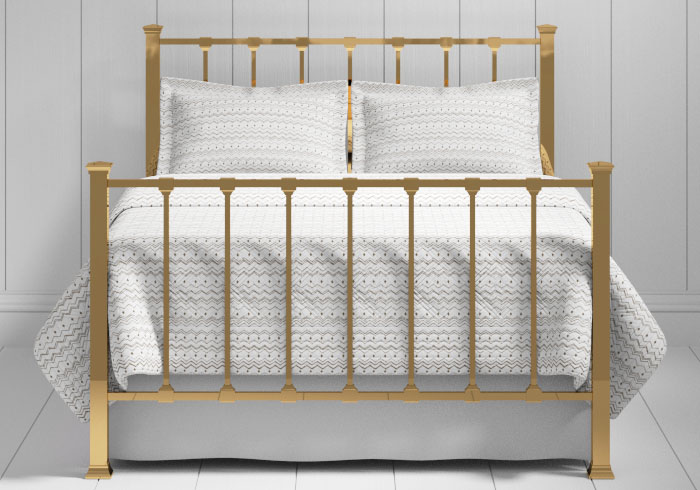 Chilton bed in a brass finish - Chilton – Brass Bed Frame – The Original Bedstead Company