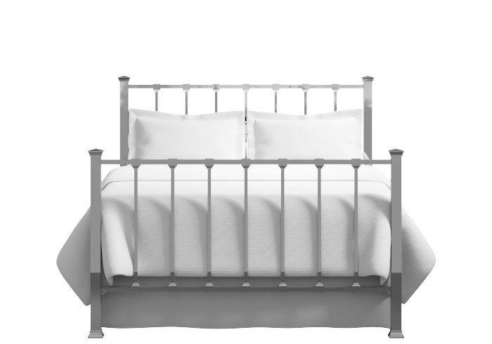 Chilton bed in chrome finish