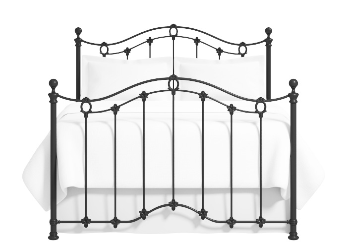 Clarina iron bed in satin black