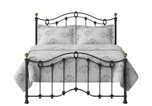 Clarina Low Footend Iron/Metal Bed in Satin Black