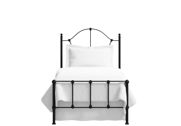 Claudia low footend single iron bed in black