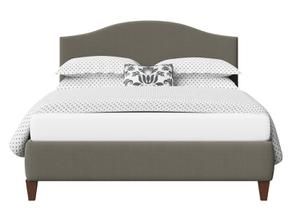 Daniella Upholstered Bed in Grey fabric