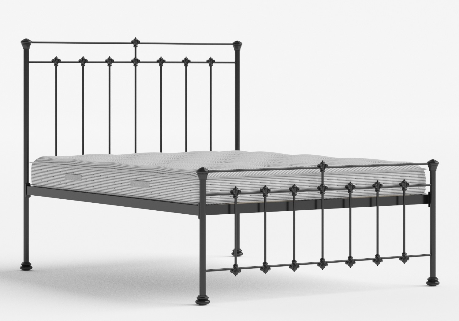Edwardian Iron/Metal Bed in Satin Black