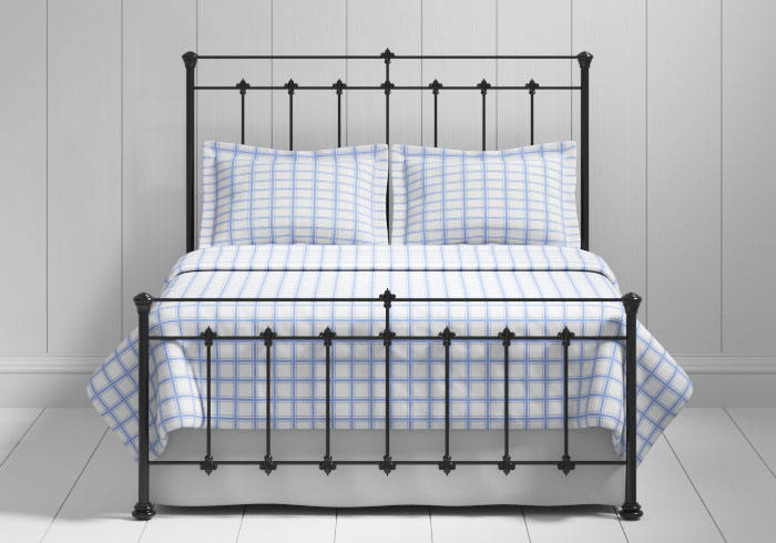Edwardian iron bed in black