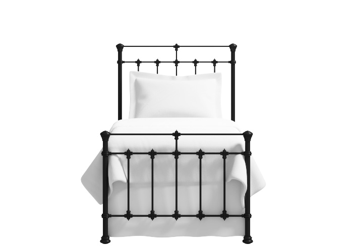Edwardian iron bed in satin black (Single)