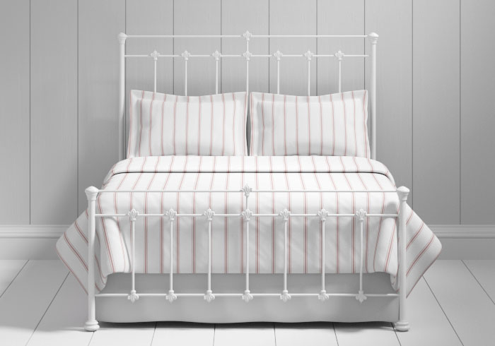 Edwardian iron bed in white