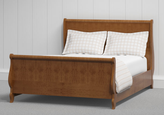 Elliot wood bed in a cherry finish