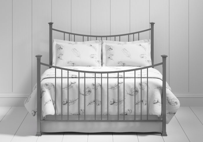 Emyvale iron bed in pewter
