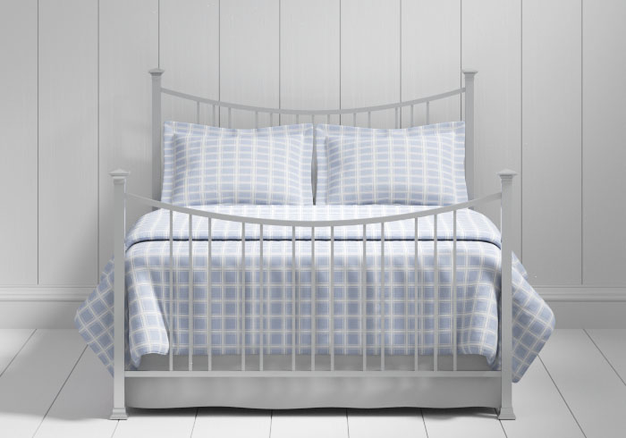 Emyvale iron bed in silver