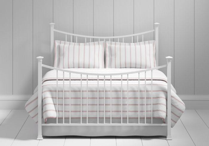 Emyvale iron bed in white
