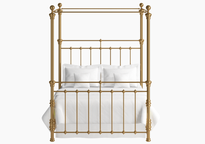 Fermoy brass four poster bed