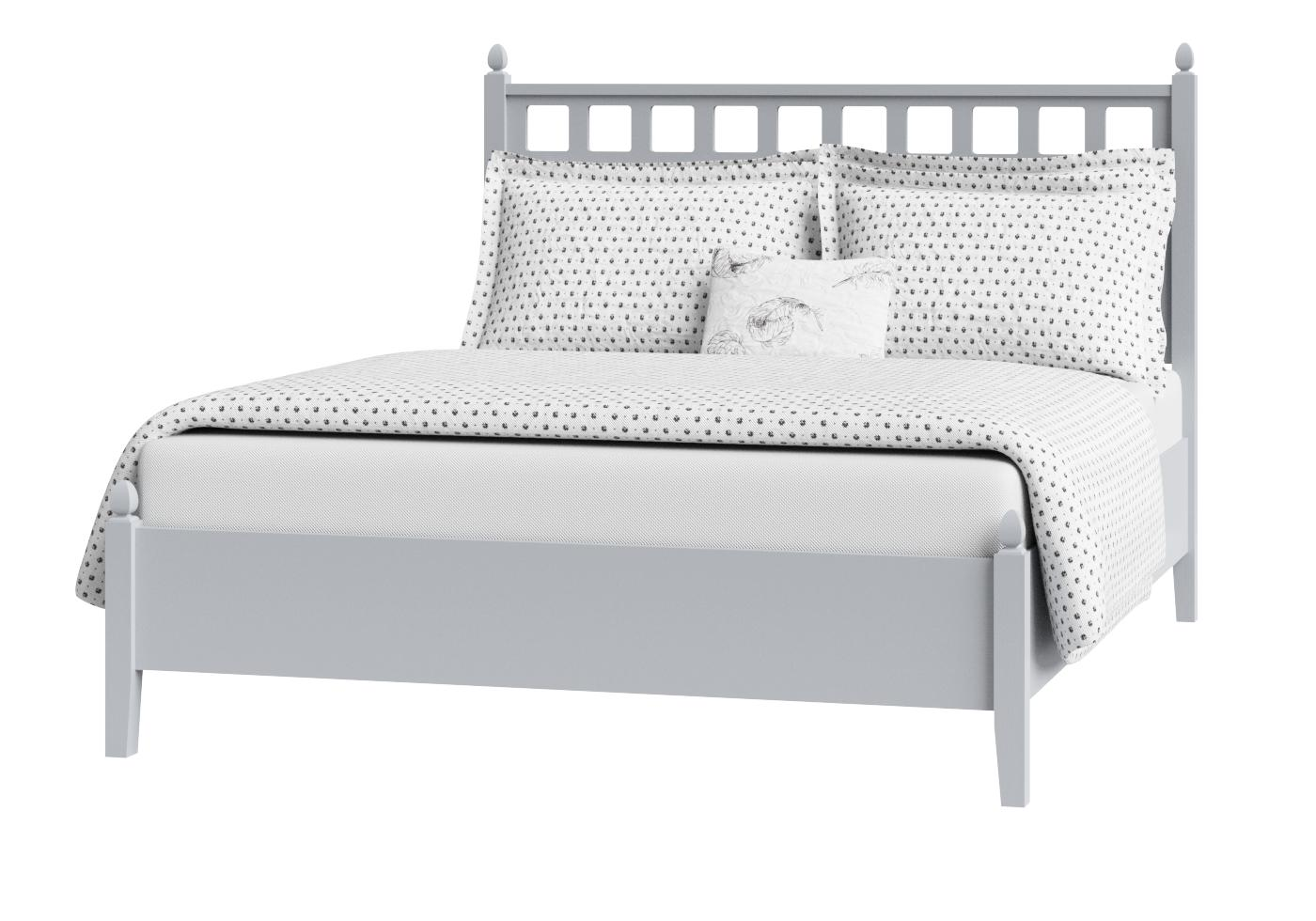 Cutout of Hank low footend painted wood bed in grey