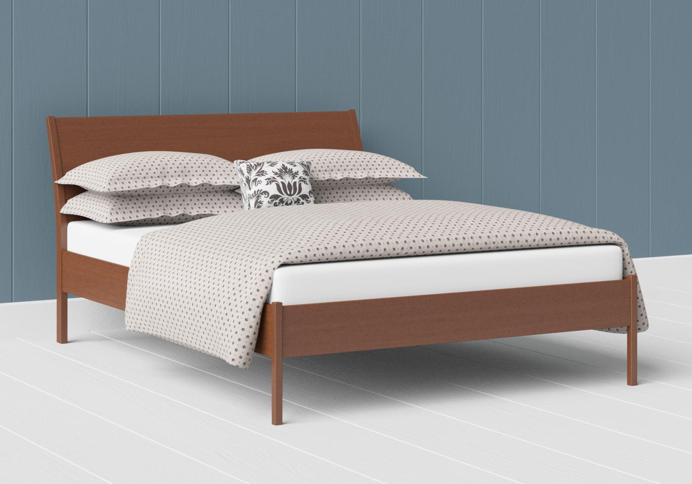 Hunt low footend wood bed in a dark cherry finish