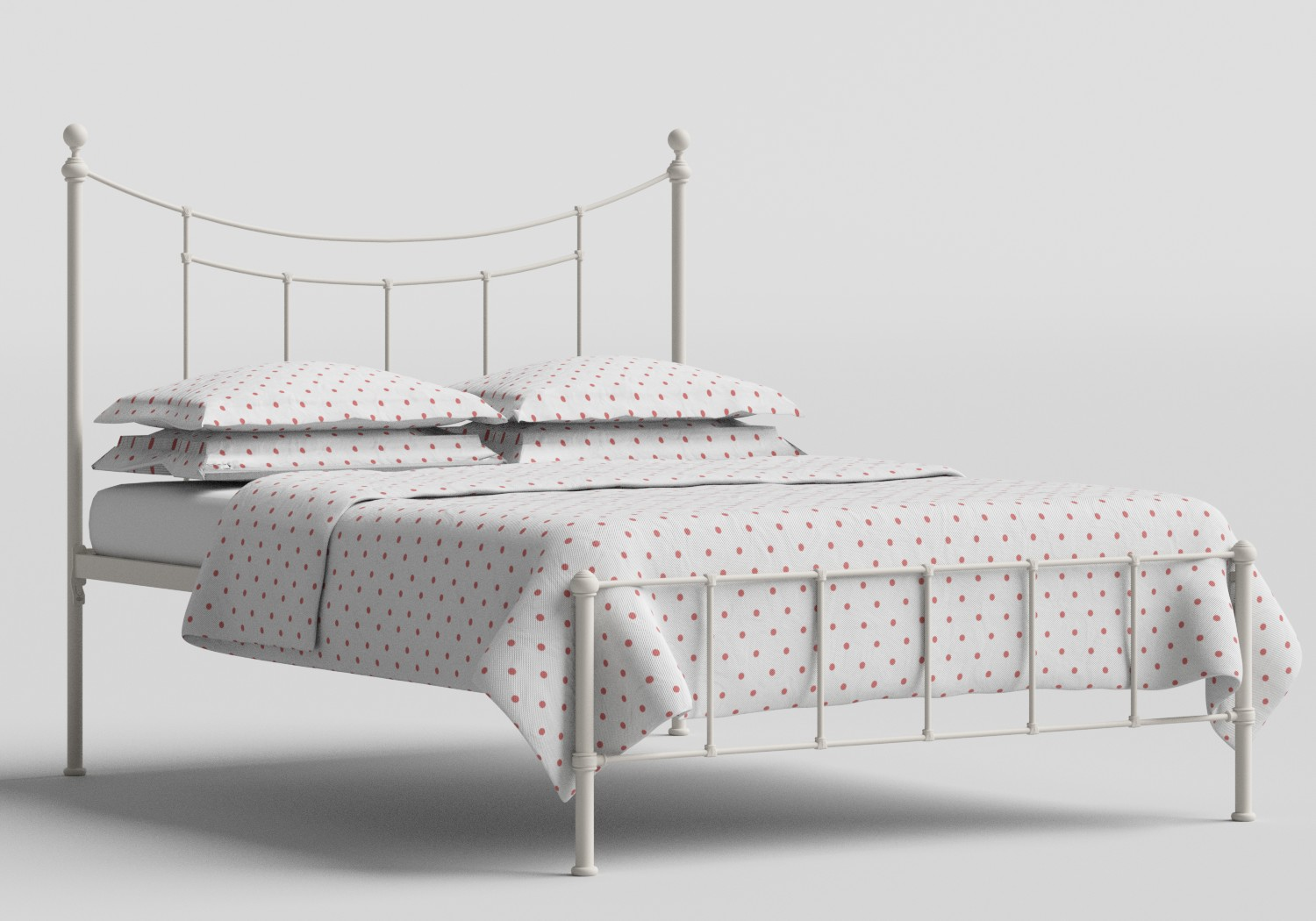Isabelle Iron/Metal Bed in Glossy Ivory