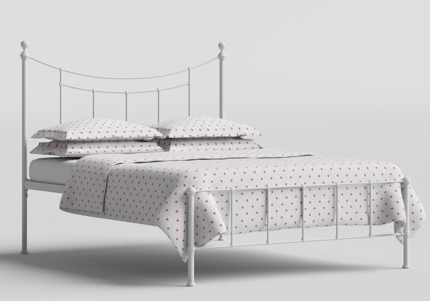 Isabelle Iron/Metal Bed in Satin White