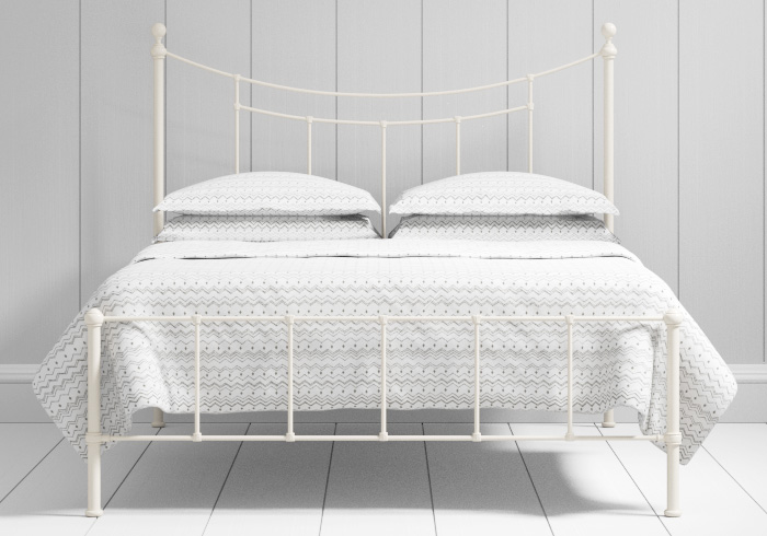 Isabelle low footend iron bed in ivory