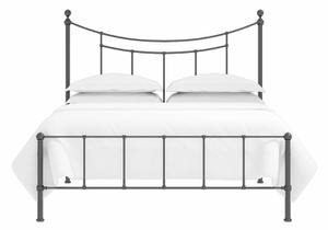 Isabelle low footend iron bed in satin black
