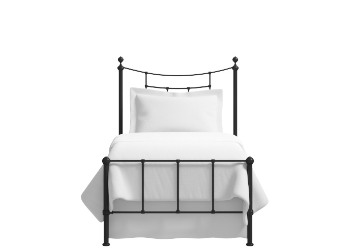 Isabelle low footend single iron bed in black