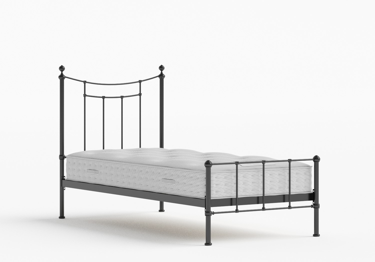 Isabelle Single Iron/Metal Bed in Satin Black