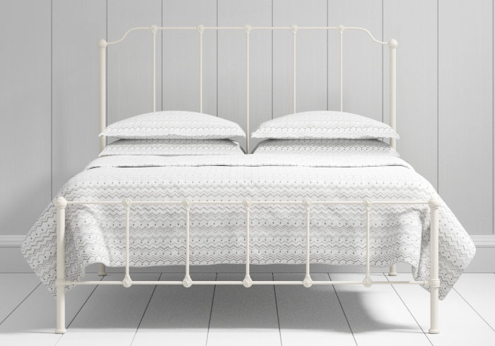 Julia low footend iron bed in ivory