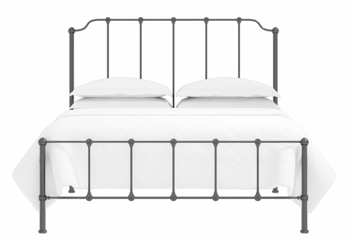 Julia low footend iron bed in satin black