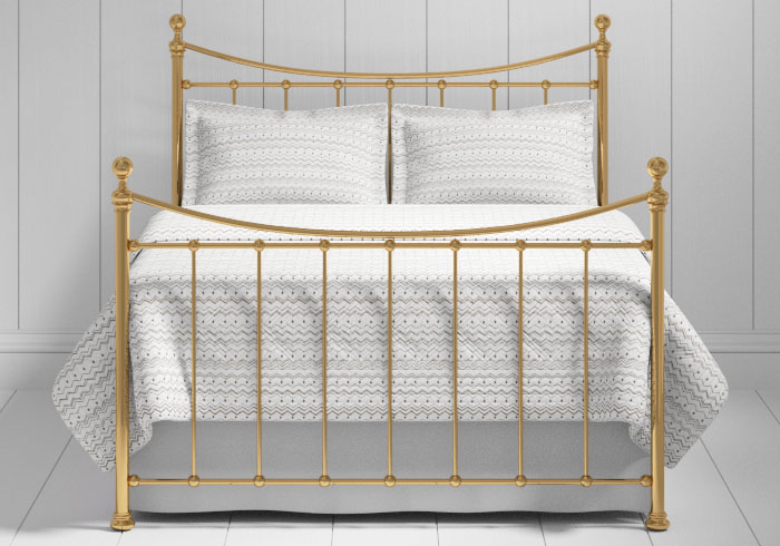 Kendal bed in a brass finish