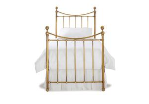kendal single bed in a antique brass finish