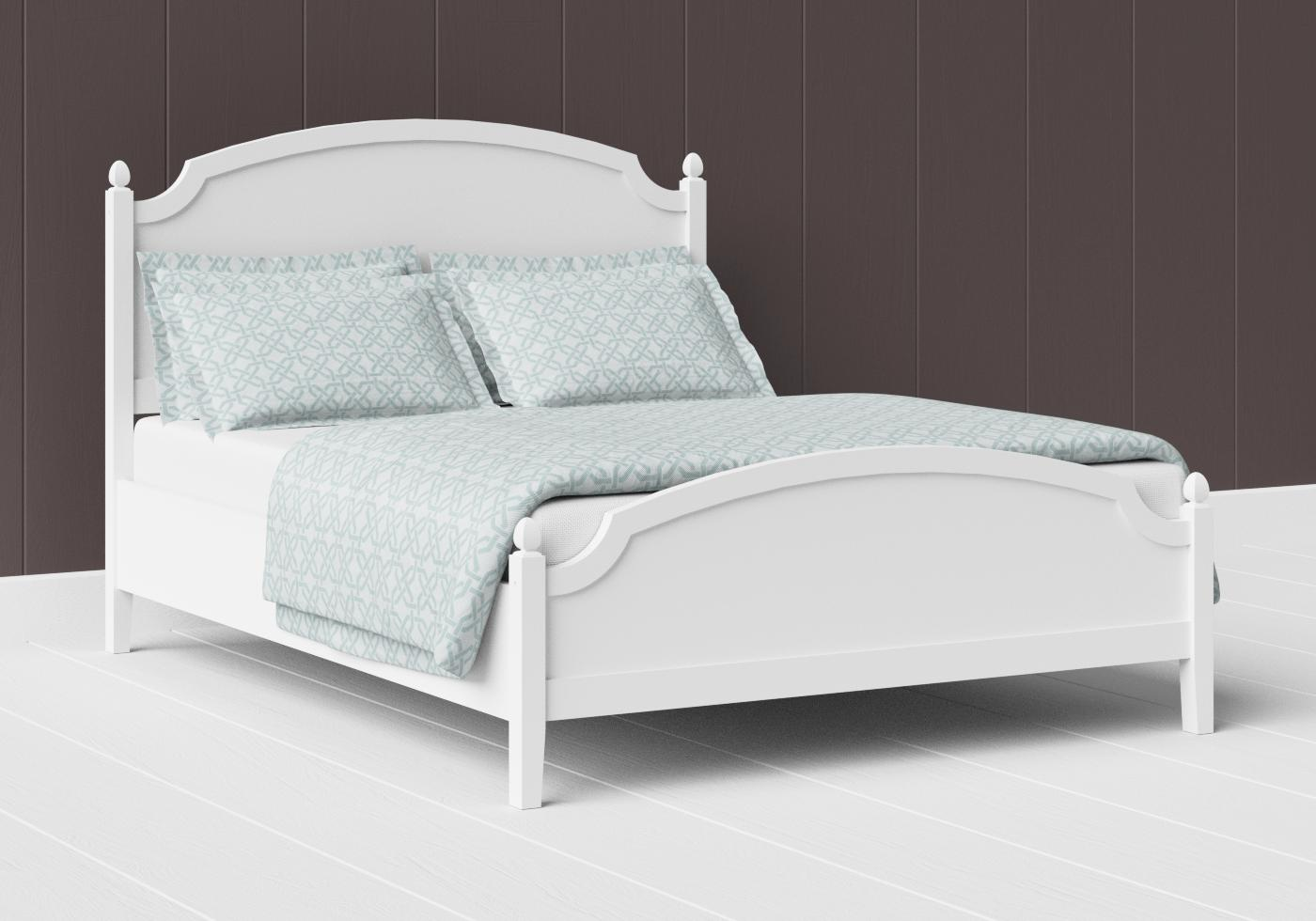 Kipling low footend painted wood bed in satin white