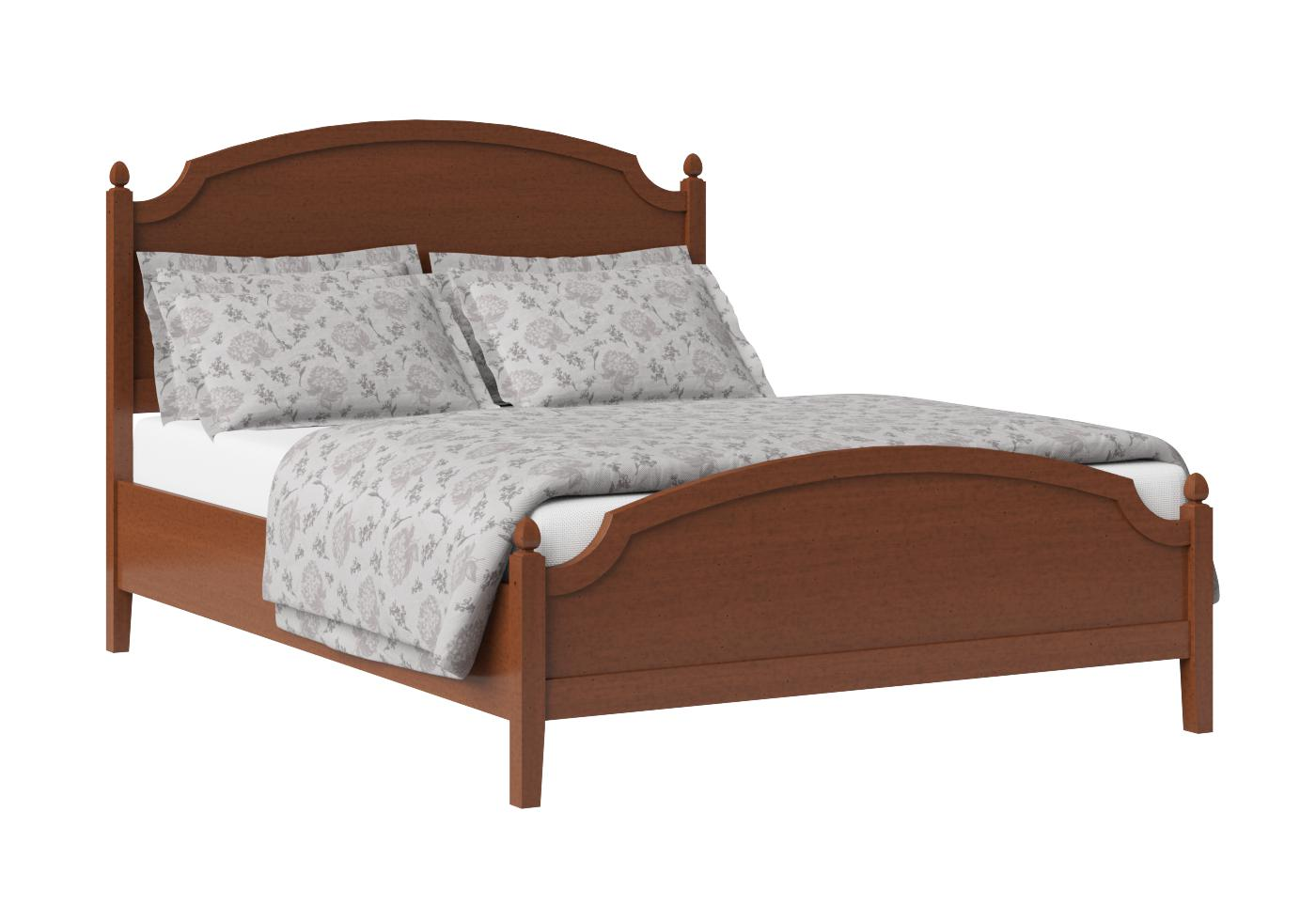 Cutout of Kipling low footend wood bed in a dark cherry finish