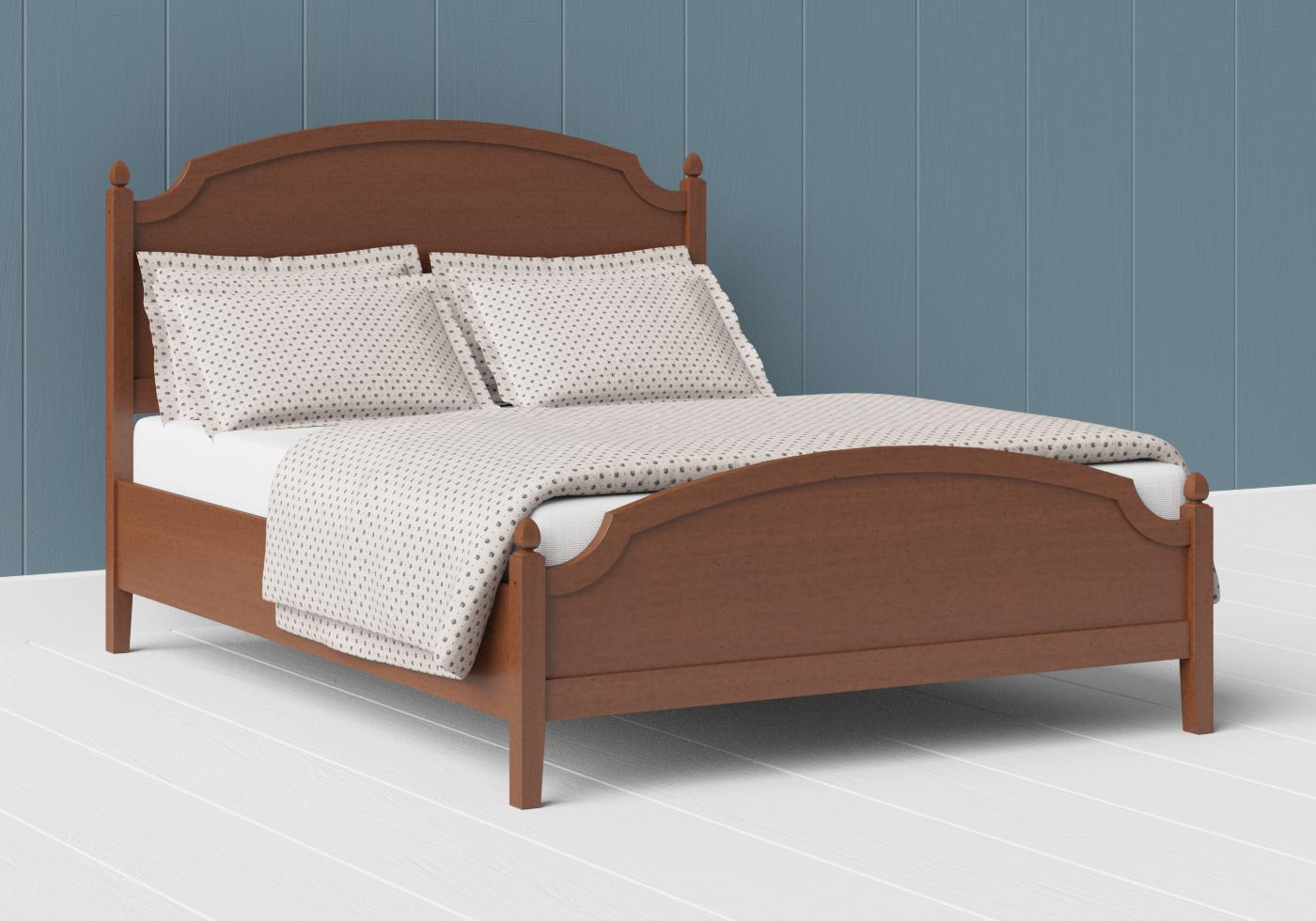 Kipling low footend wood bed in a dark cherry finish