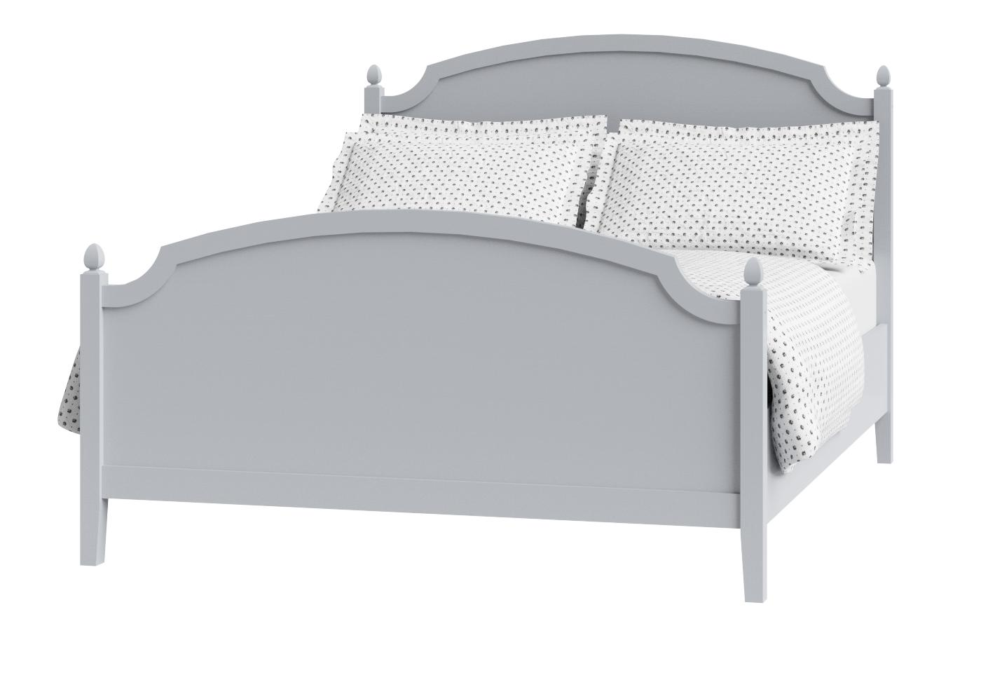 Cutout of Kipling painted wood bed in grey