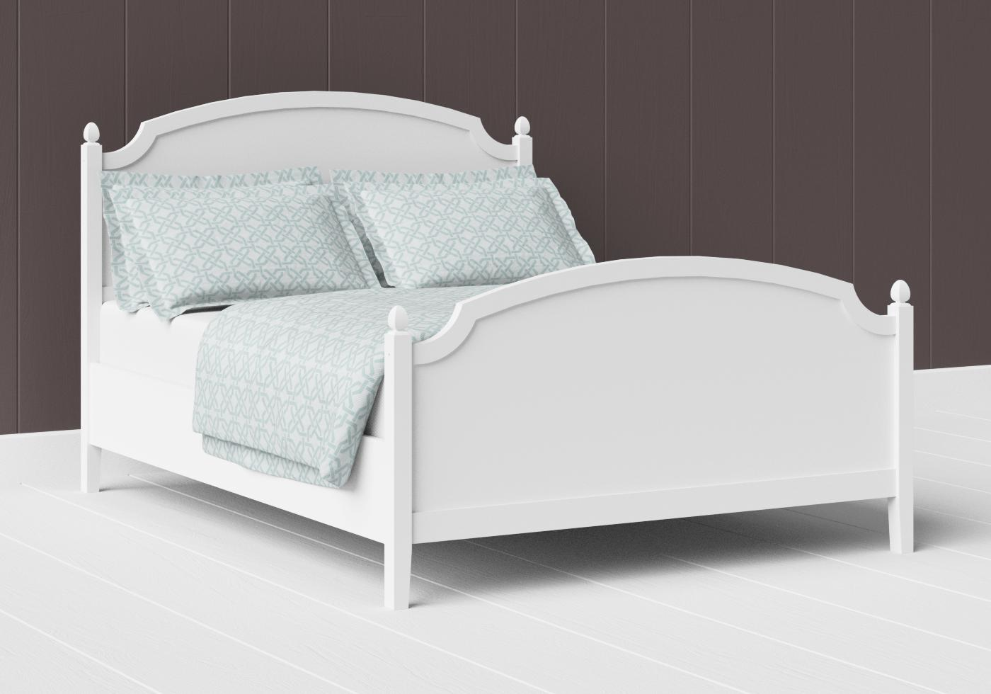 Kipling painted wood bed in satin white